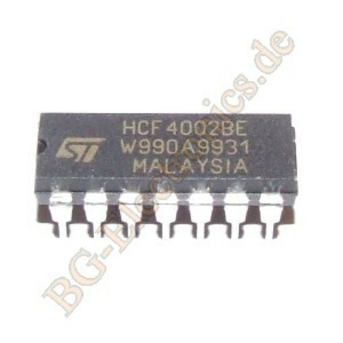 2 x hcf4002be dual 4in nor Gate STM dip-14 2pcs