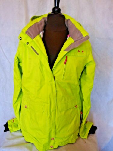 Fluro Yellow Ice Peak Ladies Karla Ski Jacket