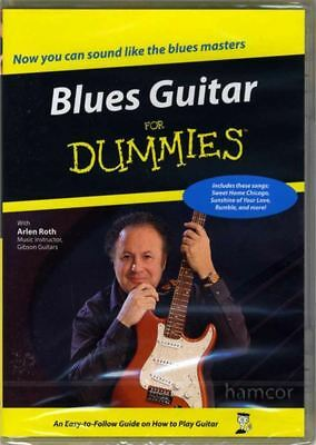blues guitar for dummies dvd learn how to play beginner lessons with arlen roth ebay. Black Bedroom Furniture Sets. Home Design Ideas