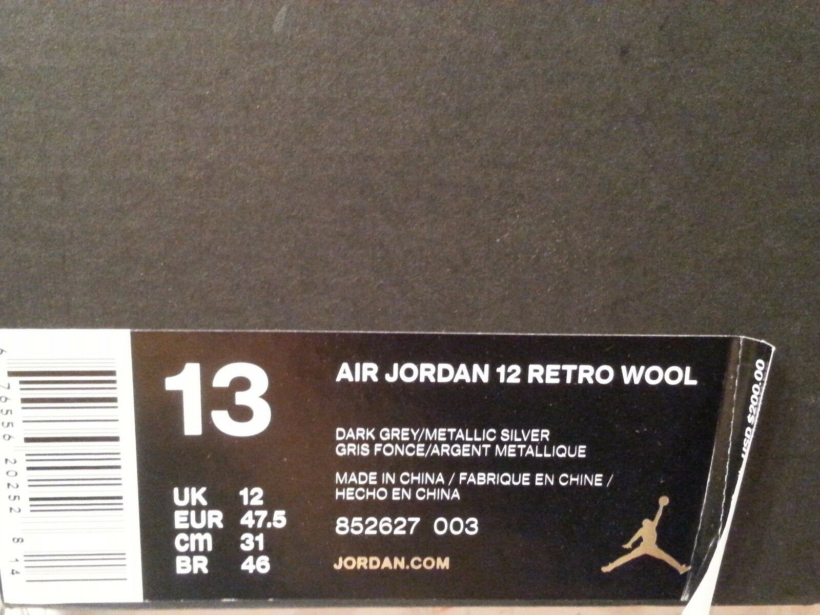 2016 Nike Air Jordan 12 XII Retro Wool Size 13. 13. 13. 852627-003 1 2 3 4 5 6 b8098b