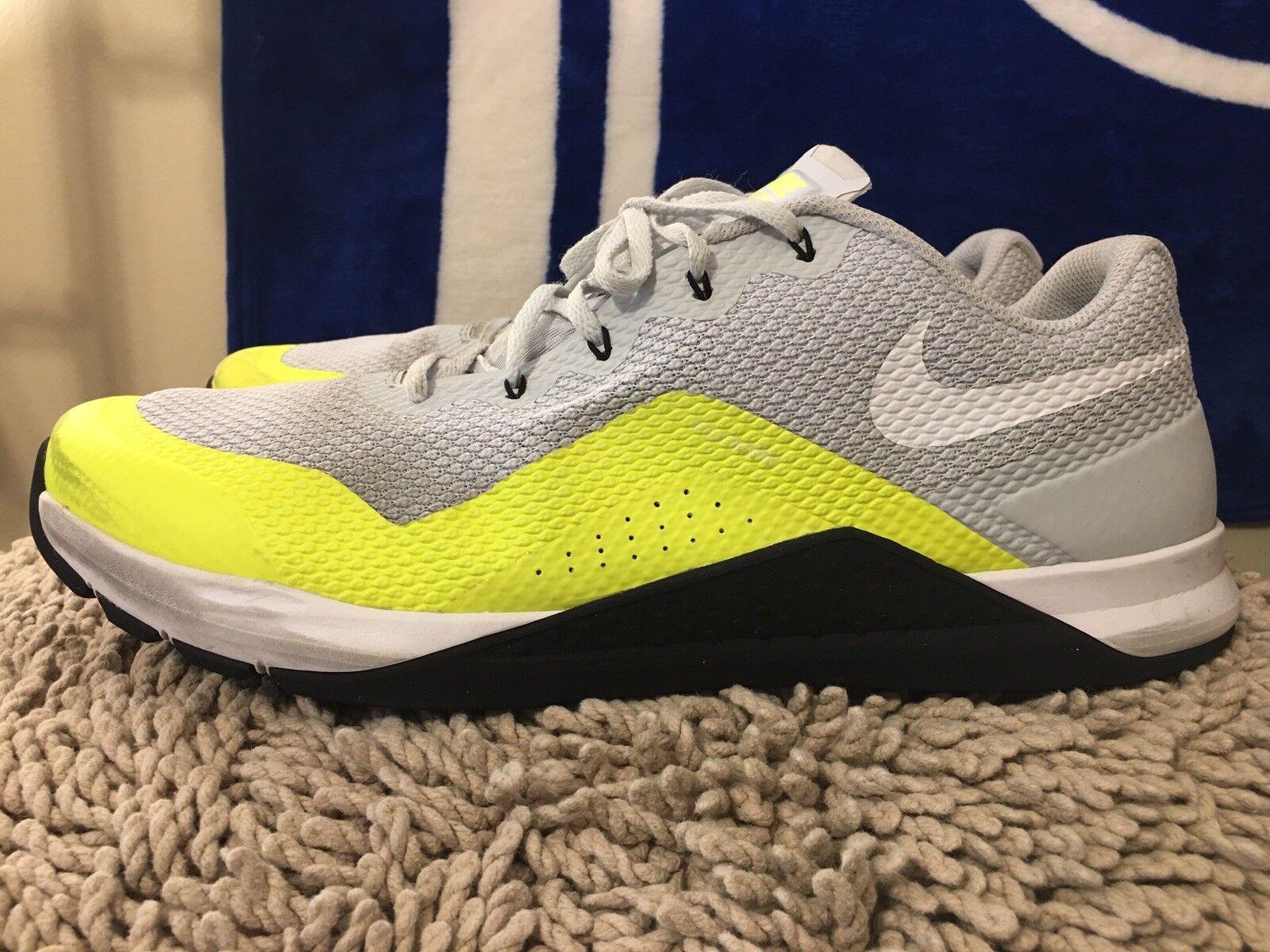 Nike Metcon Repper DSX, 898048-001, White   Volt, Men's Training shoes, Size 15