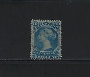 CANADA - #FB31 - 40c USED QUEEN VICTORIA BILL STAMP (1865)