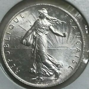 1915 France 2 Francs - Silver Uncirculated