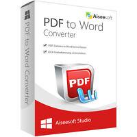Pdf To Word Converter Win Aiseesoft 1 Jahr - Lizenz Esd Download Nur 14,99
