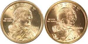 $1 Sacagawea US Dollar BU Gem Uncirculated 2 Coin Set 2000 P+D