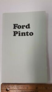 1974-FORD-Pinto-Original-NOS-Owner-039-s-Manual-Excellent-Condition-US