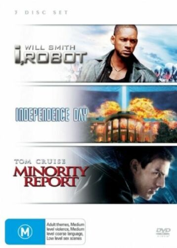 1 of 1 - I, Robot / Independence Day / Minority Report - (3-Disc Set) - NEW DVD - R4