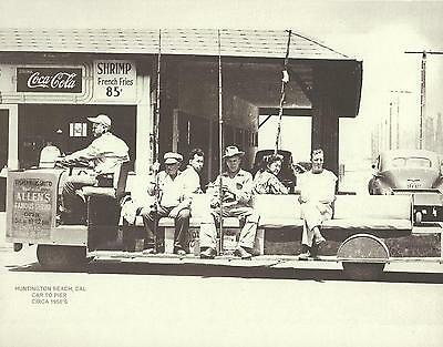 "HUNTINGTON BEACH Surf City PIER CAR 1950/'s COCA COLA AD Photo Print 1355 11/""x14/"""