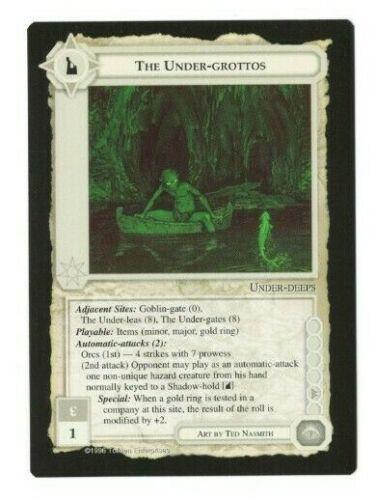 Terra-média Jogo De Cartas Colecionáveis Pokemon The-grottos Dark Under Minions DM Lord Of The Rings incomuns Cartão Quase Perfeito-M