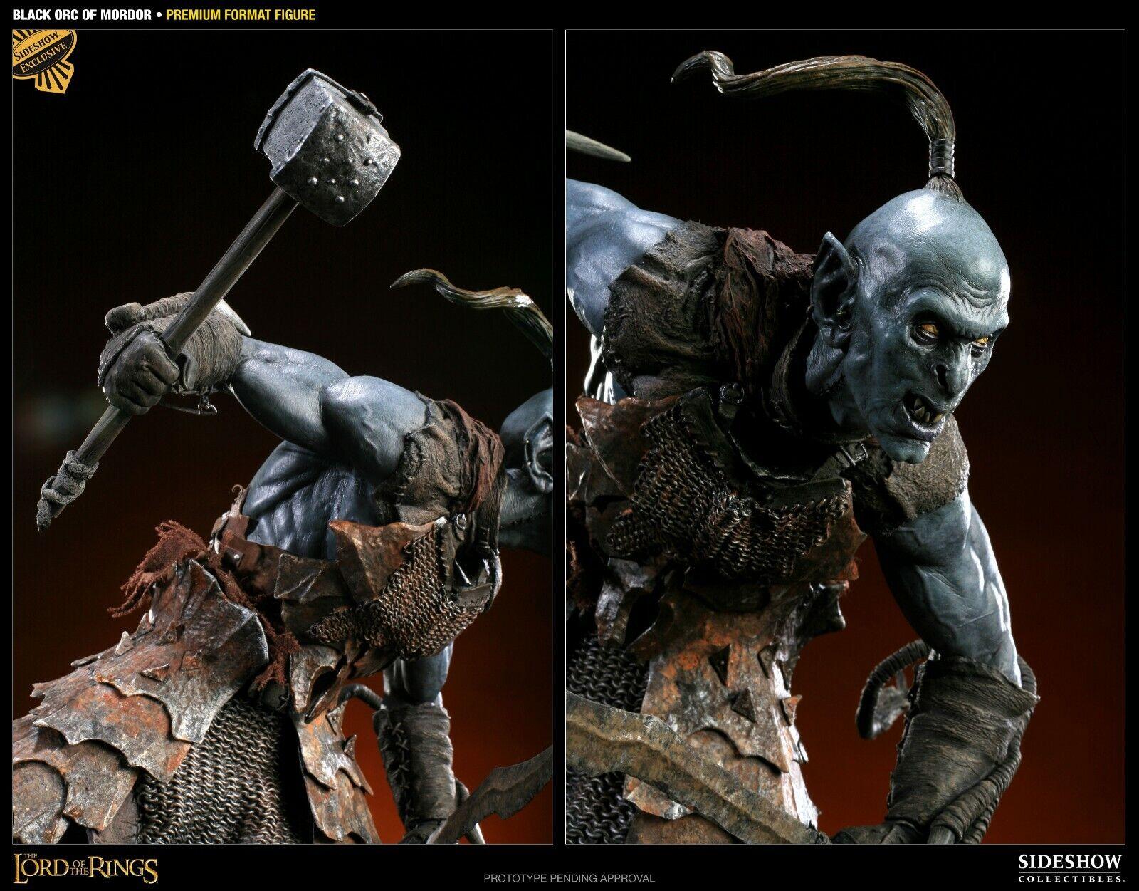 nuevo estilo Sideshow Negro Orco Orco Orco Premium Format Exclusive 1 4 Escala Estatua El Señor De Los Anillos  Mejor precio