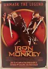 IRON MONKEY ORIGINAL 2001 DS 1ST RELEASE 1SHT MOVIE POSTER ROLLED EX