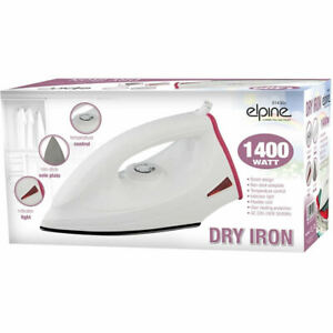 1400W-Non-Stick-Soleplate-Lightweight-Clothes-Dry-Iron-Corded-Pink