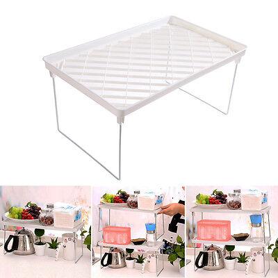 Foldable Storage Shelf Rack Holder Organizer Kitchen Bathroom Cabinet Stand New