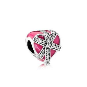 Pandora-Gifts-of-Love-Magenta-Enamel-amp-Clear-CZ-Neu