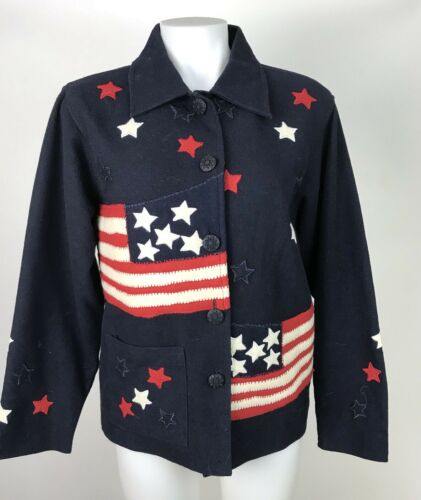 Vintage 90s Small Women's Patriotic Jacket Blazer