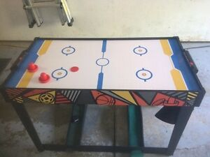 Image Is Loading Multi Sport Game Table Air Hockey Plinko Basketball