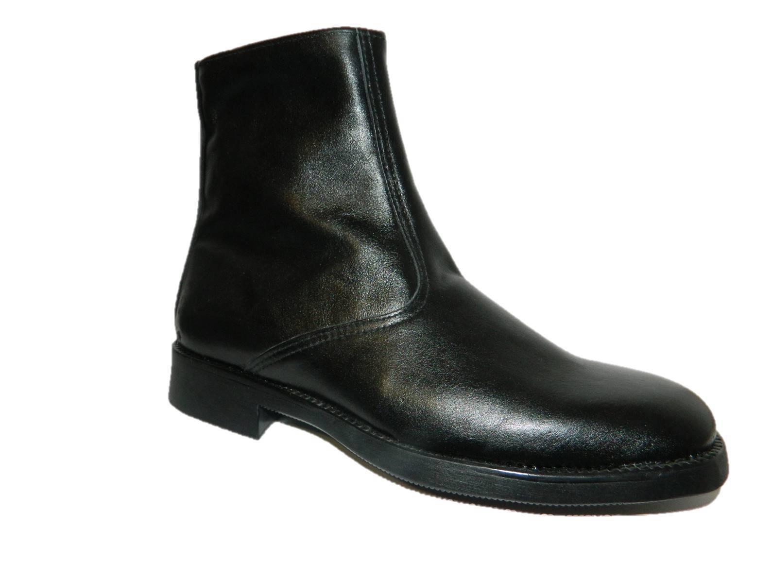 botas Hombre Clásicos Caliente Amortiguado Elegantes Cómodo de Piel en Negro