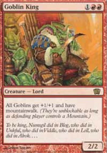 Goblin King MTG 8-9th edition *MRM* ENGLISH Roi des gobelins