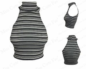 0953cf906ea784 Image is loading NEW-WOMENS-LADIES-HIGH-TURTLE-NECK-SLEEVELESS-RIBBED-