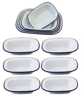 Popular Brand Falcon Enamelware Pie Dish Oblong Dish Cookware Oven Bake Ware Various Sizes Beneficial To The Sperm Bakeware & Ovenware Baking/roasting Dishes
