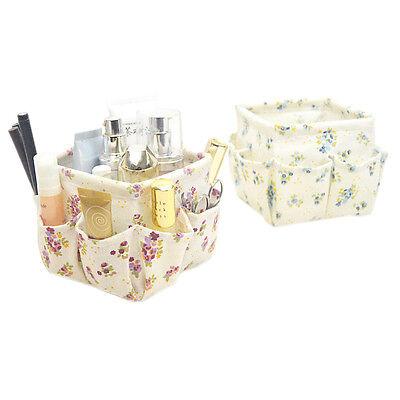 Household Trinket Desktop Cotton Linen Sundry Cloth Cosmetic Storage Basket Box
