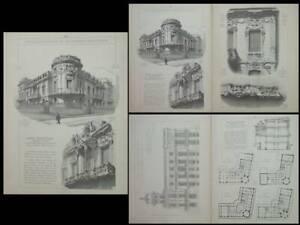 à Condition De Madrid, Palacio Longoria -gravures 1910 - Jose Grases Riera, Art Nouveau, Un Enrichit Et Nutritif Pour Le Foie Et Les Rein