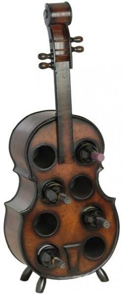 Weinregal Flaschenregal Cello Flaschenständer 102cm aus Holz Flaschenhalter Bar