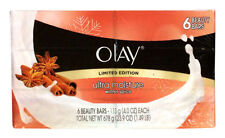 6 PACK OLAY LIMITED EDITION ULTRA MOISTURE WINTER SPICE BEAUTY BARS SOAP