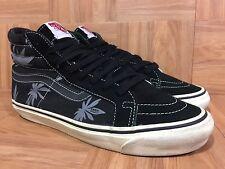 RARE🔥 VANS Originals Sk8-Hi THC Palm Peace Leaf Cannabis Marijuana Sz 9 420