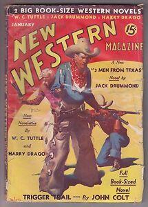 New-Western-Jan-1936-Pulp-WC-Tuttle-Harry-Sinclair-Drago-Jack-Drummond-John-Colt