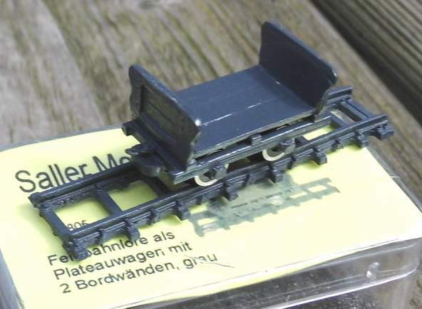 Lanz Feldbahnlore als Plateauwagen mit 2 Bordwänden   - - - von Saller 1 87 68b3c9