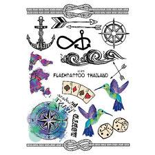 1 Blatt Körper Tattoo Aufkleber Sticker Wasserfest Anker Pattern Schmuck