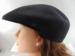 Vintage Joseph E. Ward London England Black Ascot Flat Cap 100% Wool ... 9963ed0edf4