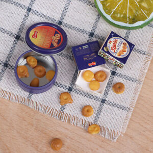 Dollhouse Miniature Cookies Snacks Pretend Play Food For Doll House Kitchen Toy Ebay