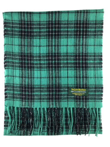 100/% Pure Lambswool Maclean Hunting Ancient Tartan Scarf Made In Scotland
