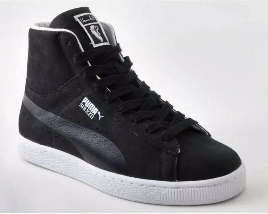 Puma X Usain Bolt Shinzo Suede Mid Sneakers Black 353295 Mens 12 High Top shoes