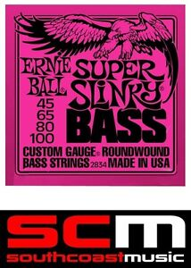 4-string-Bass-Guitar-Strings-2834-Ernie-Ball-Super-Slinky-Roundwound-45-100