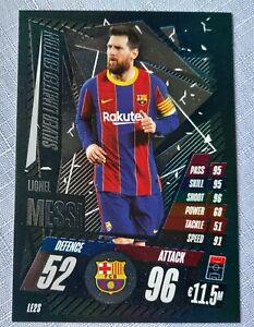 Match Attax 2020//21 Muy Raro Messi OS7 Tarjeta de gran tamaño