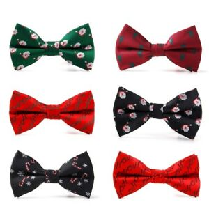 Christmas Men Bowtie Necktie Bow Tie Adjustable Lovely Festival Novelty Gift