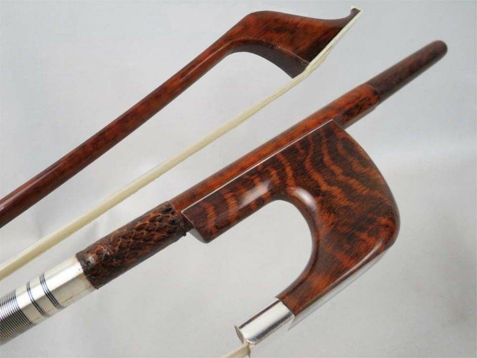 Professional song Marstro snakewood German-style 3/4 bass bow,Copper mounted