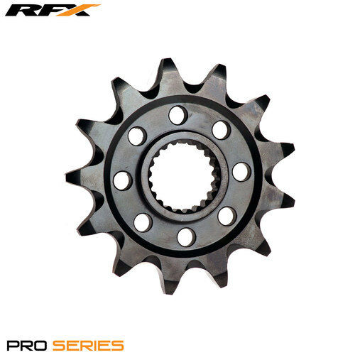 For KTM SX 200 2T 2004 RFX Pro Black Zinc Front Sprocket 13T