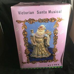 Vintage-Victorian-Santa-Musical-NIB-I-039-m-Dreaming-Of-A-White-Christmas-9-1-2