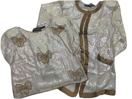 Jewel Queen Angelique Vintage Sequin Silk Caftan J