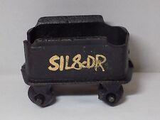 Cast Iron Railroad Tender Coal Mining Train Car Black w Painted Gold Letters