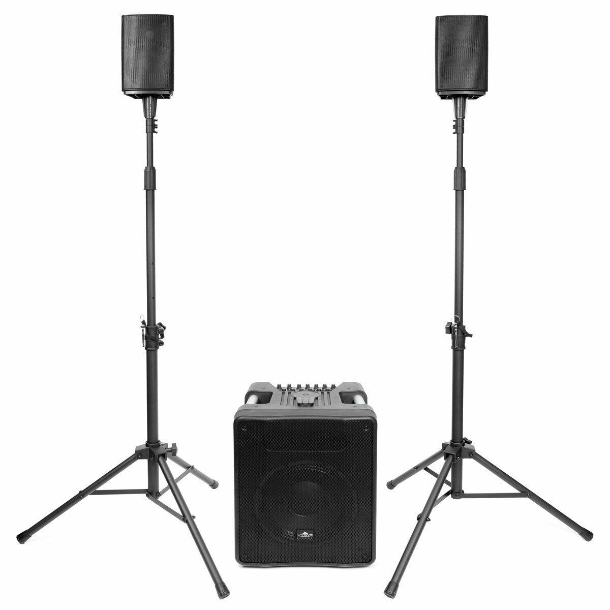 Vyrve Bolero Kompakt-PA-System inkl. Mixer und Boxen-Stative