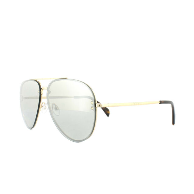 5ddebfd95b Genuine Celine Mirror Silver Gold Metal Pilot Sunglasses CL 41391 s ...