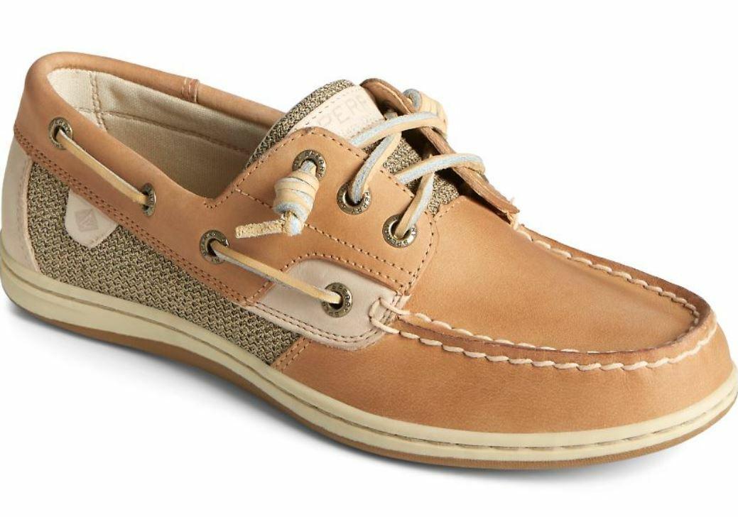 Sperry Women's Songfish Boat Shoe Linen Oat Size 5.5M