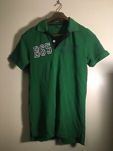 1ab50ce0a25 Image is loading VTG-80s-BENETTON-Rugby-Shirt-Green-White-Short-