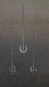DESPRES Dessin original GOUACHE 3 épingles fer à cheval JOAILLERIE ART DECO 1930 edOBMayy-09093514-859644067