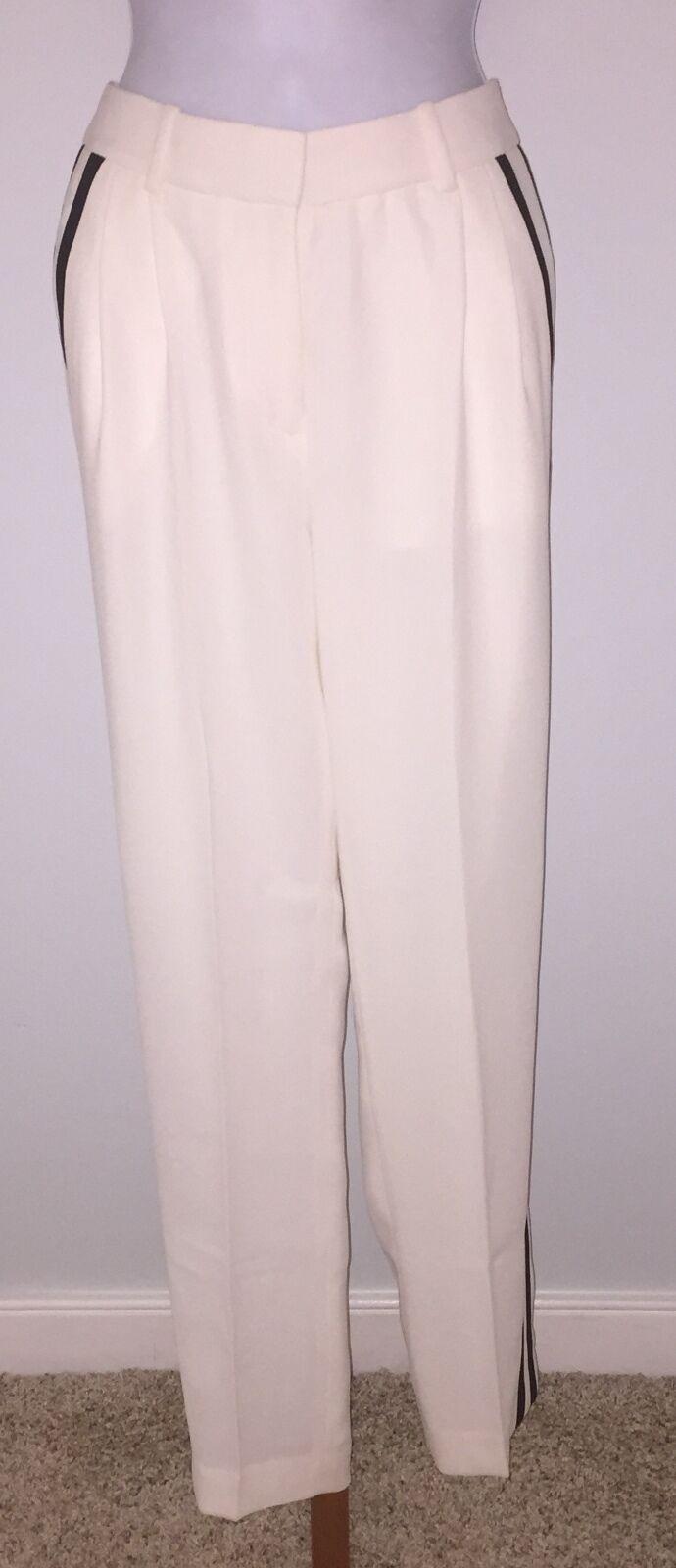 J CREW Collection Tuxedo Pant Size 00 Ivory  b6461  158